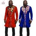 Осень Новый Дизайн Мужские Рубашки Мужчины Рубашка С Длинным Рукавом Dashiki африканской Печати Мужские Рубашки Длинные Рубашки Мужские African Clothing 6XL WYN53