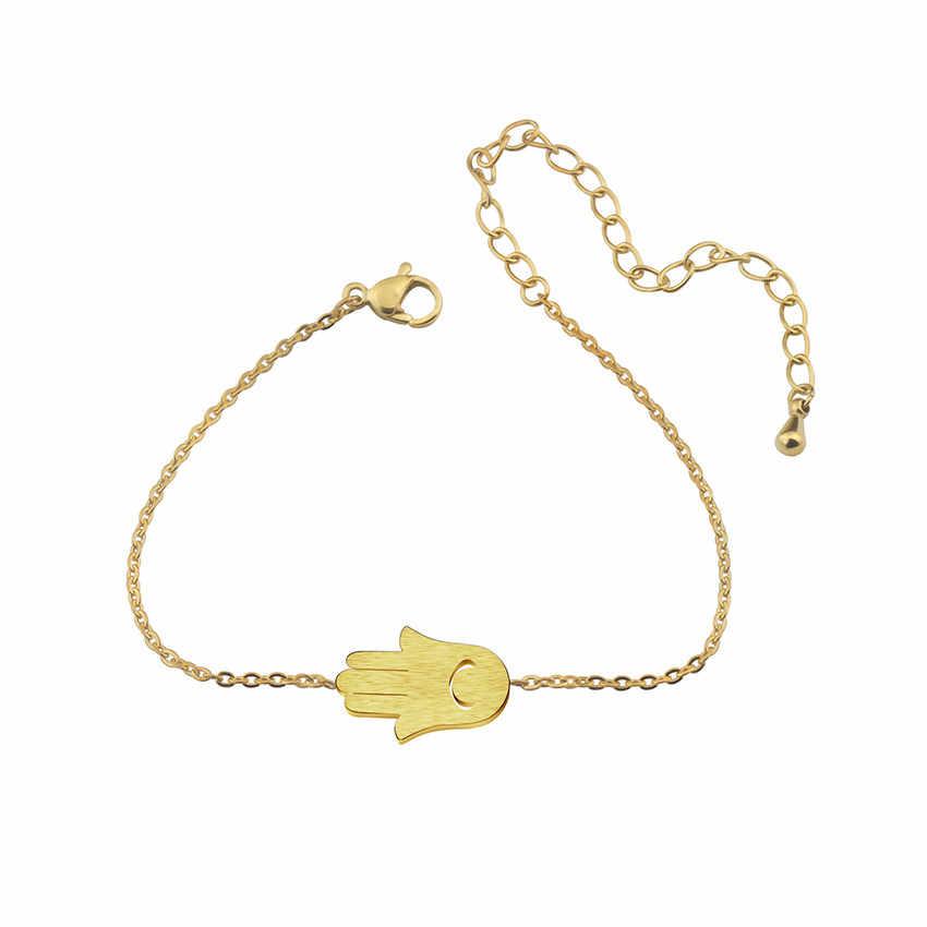 DCTVICT main de Fatima bracelets pour femme turquie Protection Bff bijoux bonne chance charme Hamsa mauvais œil Bracelet Talisman