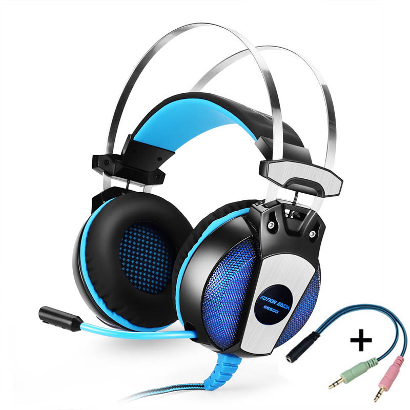Professinal Computer headset Gaming Headphone Earphone Over-Ear Headband With Mic LED Light For Laptop / PS4 / Mobile Phones 2016 pc780 over ear hifi stereo gaming headset earphone stereo bass led light headband headphone with mic for pc gamers