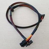 50 шт./лот модульная PSU 6Pin 3 Порты и разъёмы SATA Мощность кабель 18AWG провода 80 см для NP TP эко серии
