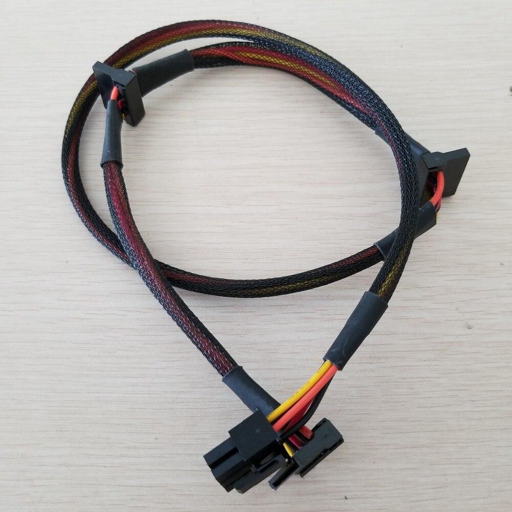 50 pcs/lot modulaire PSU 6Pin à 3 ports SATA câble d'alimentation 18AWG fil 80 cm pour NP TP ECO série