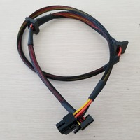 50pcs/lot Modular PSU 6Pin to 3 Port SATA Power Cable 18AWG Wire 80cm for NP TP ECO Series