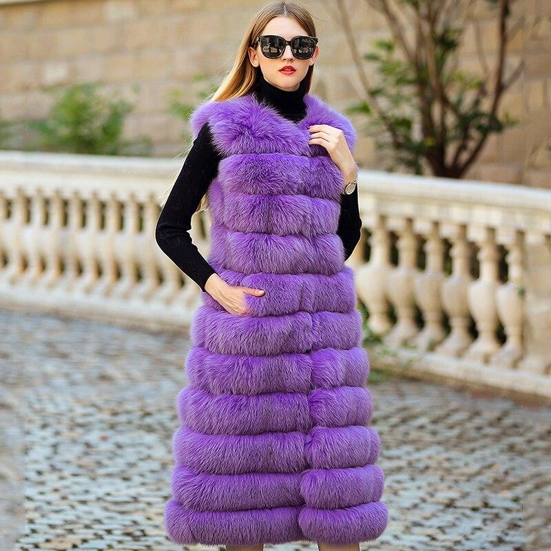 LVCHI SHUBA sin mangas Chalecos femeninos chaleco de piel real - Ropa de mujer - foto 3