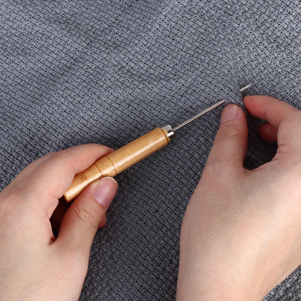 1Pcs Hand Stitching Taper Leathercraft Needle Canvas Leather Sewing Shoes Awl Cutting Paper Dies Leather Sewing Craft Supplies