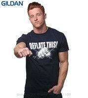 GILDAN Summer New Print Man Cotton Fashion Deflate This New England Footballer Champs T Shirt