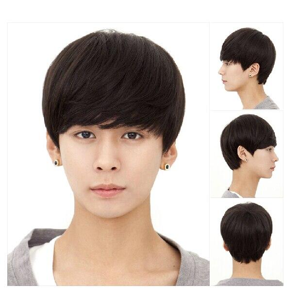 Korean fashion handsome boys wig hair fluffy short straight hair ...