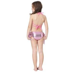 Image 5 - 여자의 인어 꼬리 지느러미 Monofin 플리퍼 의상 인어 수영 꼬리 아이들을위한 여자 코스프레 비키니 착용 수영복