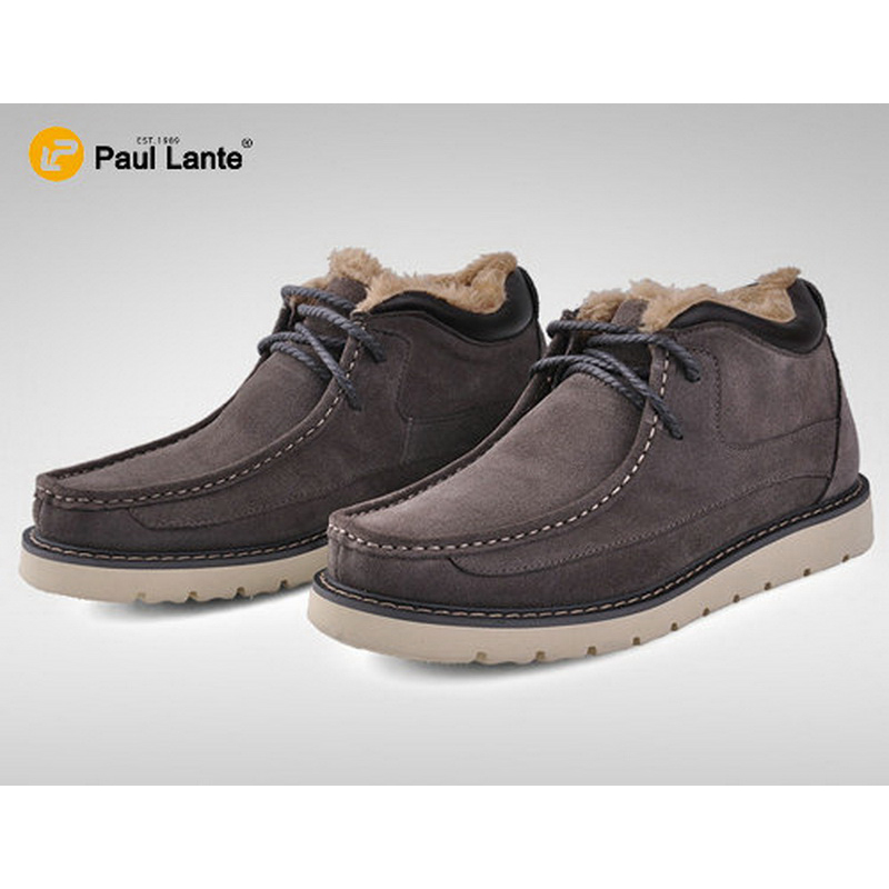 ФОТО Newest Best Winter Boot For Men's Cusal Suede Leather Fur Moccasins Warm Snow Ankle Branded Boots Driver Shoes Winter Boots Men