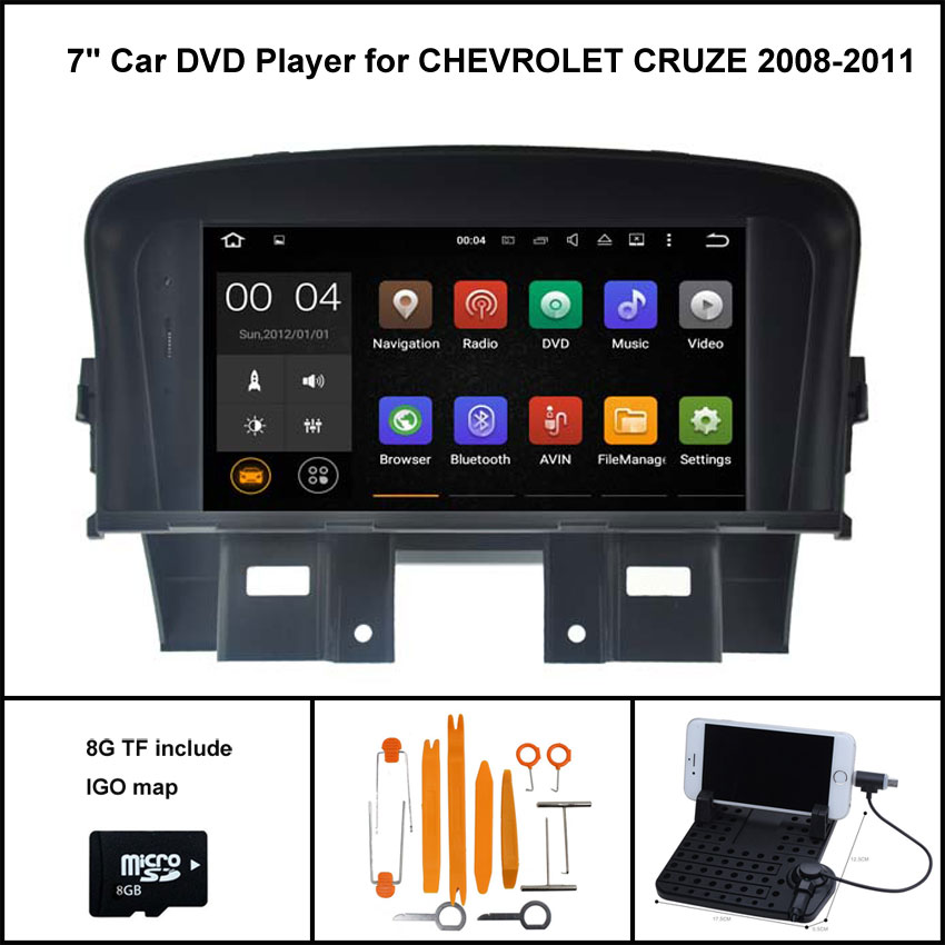 Quad Core Android 7 1 font b CAR b font DVD Player for CHEVROLET CRUZE 2008