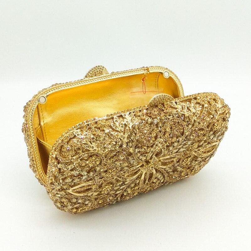 Fleur yellow Mariage Diamant Gold Bag red Double Bag Or Crystalbag Crystal Main champagne Mariée Bag À Évider Sac De silver En Soirée Embrayages Métal Minaudière Cristal Femmes Bag dwTfSqO
