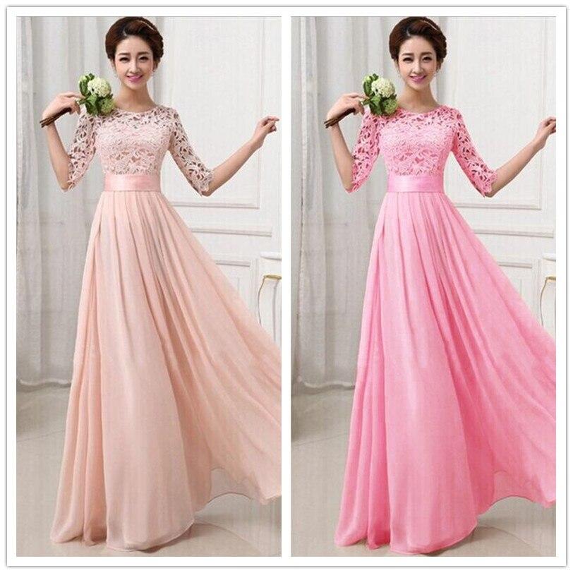 91bcdbbb9345 ChoiceShine Party Dress Women Dress Floor Length Formal Dresses Half ...