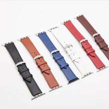 купить BUMVOR Hot Sell Leather Watchband for Apple Watch Band Series 4 3/2/1 Sport Bracelet 42/44 mm 38/40mm Strap For iwatch 4 Band дешево