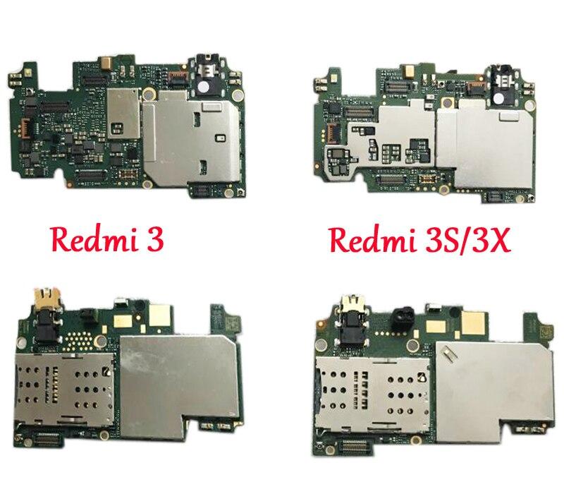 Tested Full Work Original Unlocked Motherboard For Xiaomi Redmi 3 Hongmi 3S 3X Logic Circuit