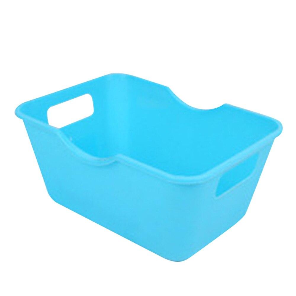 ISHOWTIENDA 1pcs Plastic Office Desktop Storage Boxes Makeup Organizer Storage Box Space-Saving Storage Baskets 0126