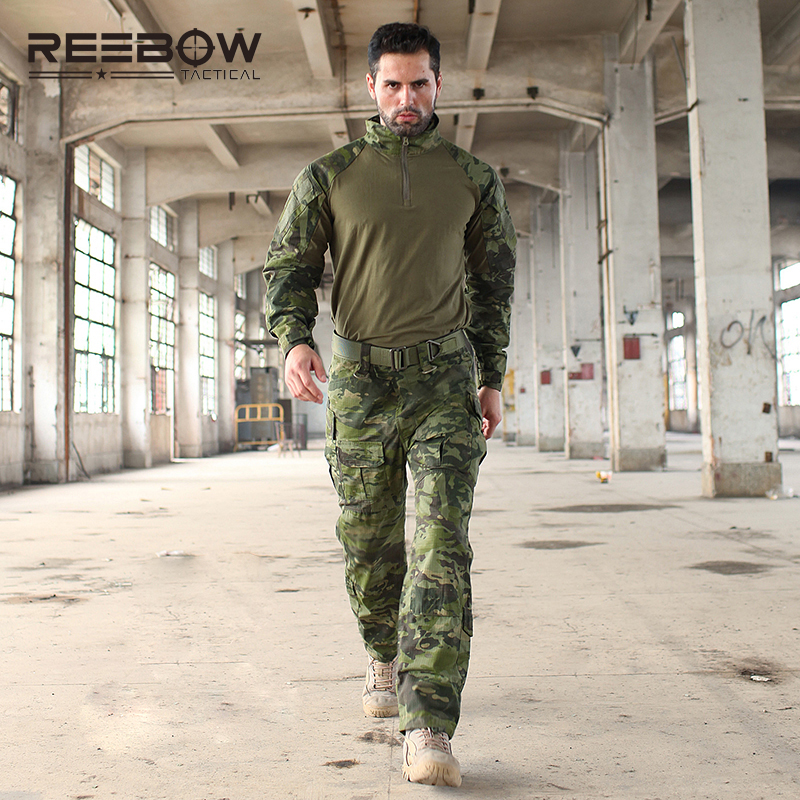 REEBOW TACTICAL Military Uniform Multicam Army Combat Shirt Uniform Tactical Pants Camouflage Suit Hunting Clothes for samsung q530 keyboard c shell top page 2