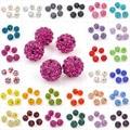 18 Solid Colors 10mm 5pcs/Lot Shamballa Crystal Clay Pave Rhinestone Disco Ball Beads for Shamballa Bracelet SL0008
