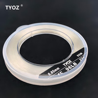 TYOZ Brand NO.27# 96LB 100% fluorocarbon fishing line Carbon Fiber Leader Line Sea Fishing Line