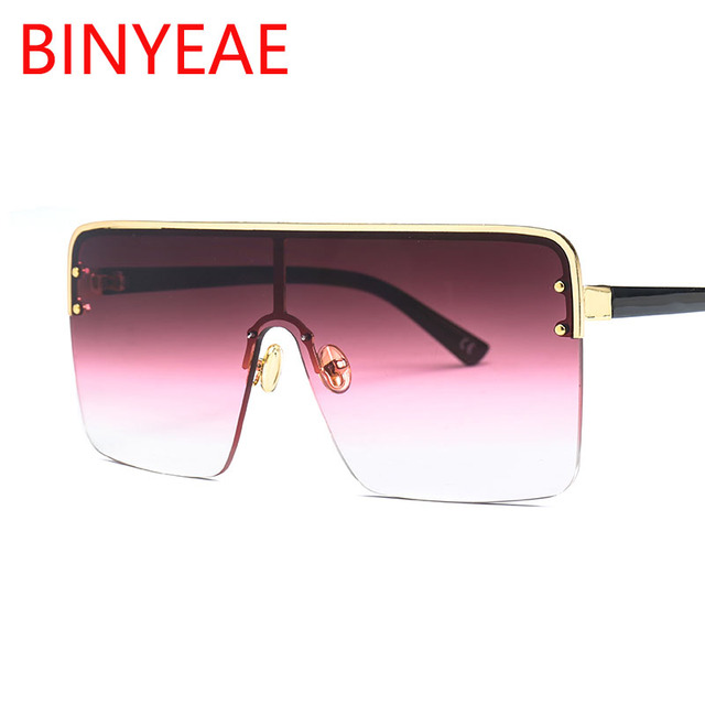 dd1181114f vintage large black sunglasses woman 2018 new brand designer glasses retro  top flat lens oversize goggles