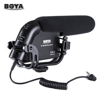 BOYA BY VM190P Professional Condenser Microphone with Foam Cover Windshiel Microphone for Camera Microphone Pop Filter Megaphone