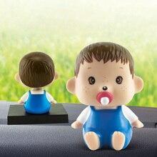 Качающаяся голова милые детские куклы Приборная панель автомобиля украшения Автомобильный интерьер ремесла орнамент мода мультфильм модель забавные игрушки