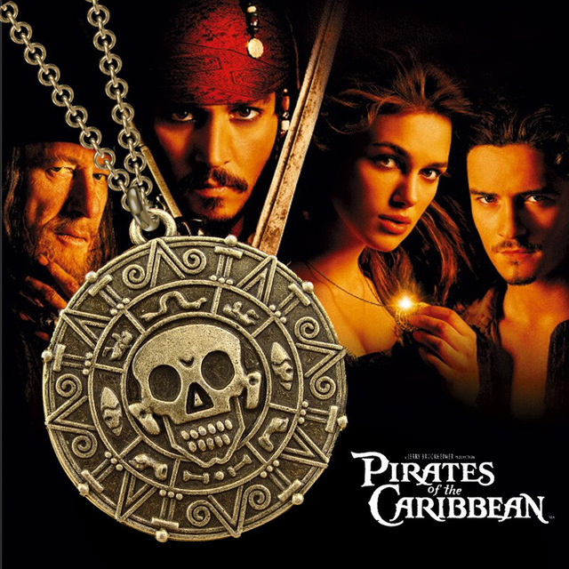HOT SALE – Pirates of the Caribbean Necklace Skulls – The Aztec Gold COIN