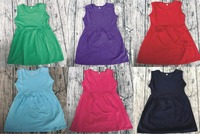 Beautiful Bf Girl Neck Ruffle Latest Fashion Fancy Baby Boutique Dresses No Sleeve Party Dress Neck