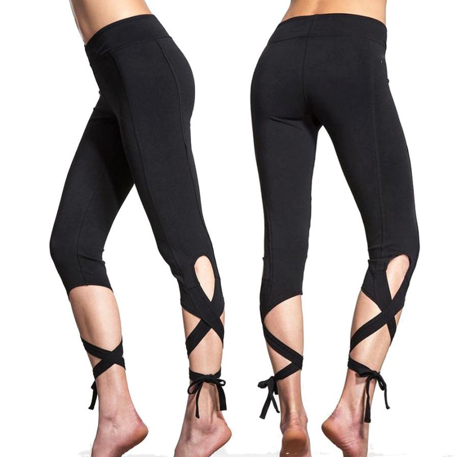 Feitong 2016 New Women Compression Cropped Trousers Leggings Fitness Mallas Quick Dry 3/4 Dancing Pants Slim Ballet Pants #OR1