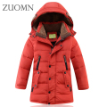Big Boys Winter LongDown Jackets Outerwear Coats boys winter jacket childrens clothing oats Parkas Big boy Coat thick Down YL339