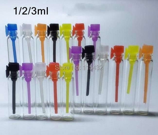 Free Shipping 100pcs Lot 1ml Mini Glass Perfume Vial
