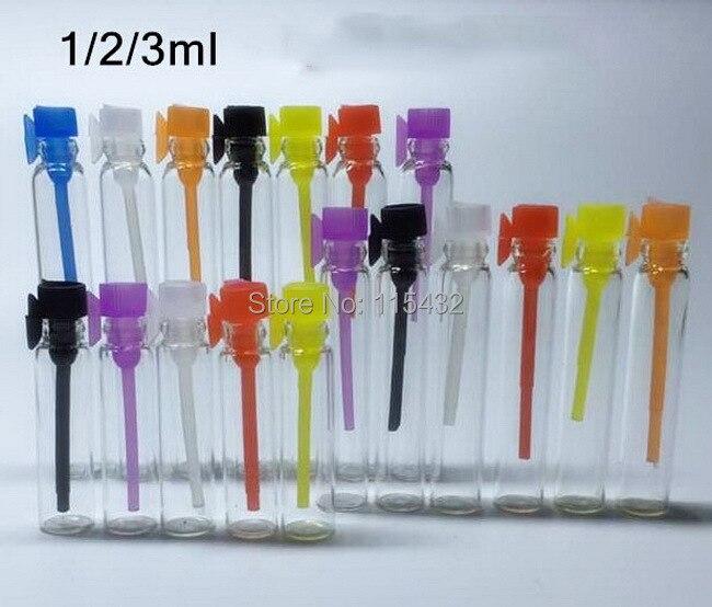 Perfume Tester Samples: Free Shipping, 100pcs/lot 1ML Mini Glass Perfume Vial, Perfume Liquid Sample Vial, Tester Bottle