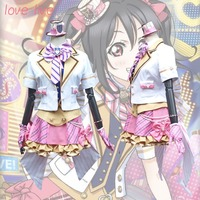 New 2018 LoveLive! Card HR Yazawa Nico Cosplay Costume Fancy Dress Adult Costumes Carnival/Halloween Costumes for Women S XL