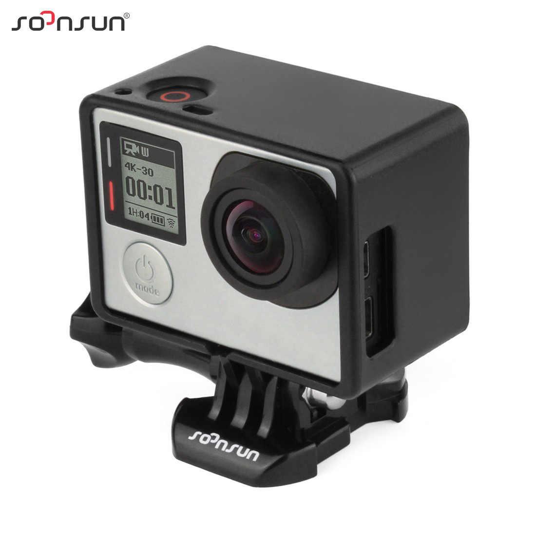SOONSUN กรอบขยายสำหรับ Bacpac w/หัวเข็มขัดและสกรูสำหรับ Gopro Hero 3 3 + 4 กล้องสำหรับ Go Pro อุปกรณ์เสริม