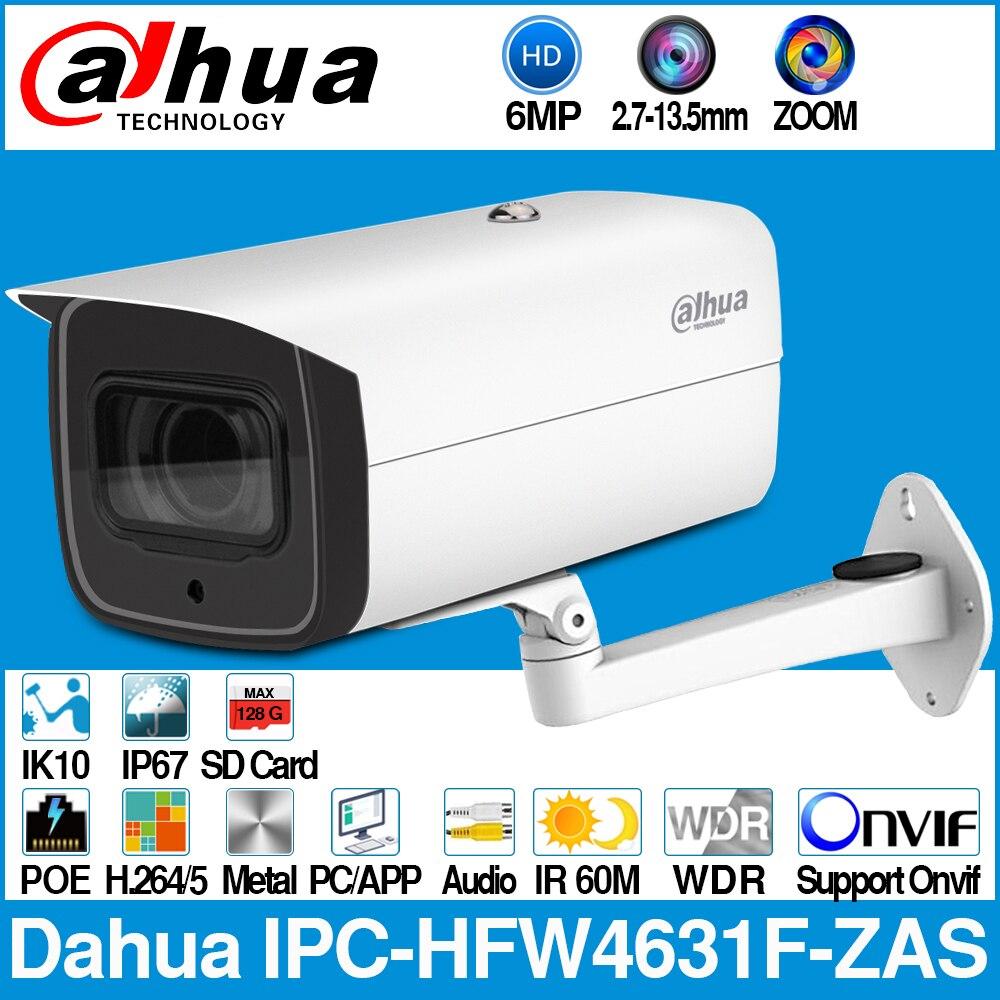 Surveillance Cameras Video Surveillance Dahua Ipc-hfw4631f-zas 6mp Bullet Ip Camera 5x Zoom 2.7~13.5mm Auto Focus 60m Ir Sd Card Slot Audio In/out Alarm Port Ip67 Ik10