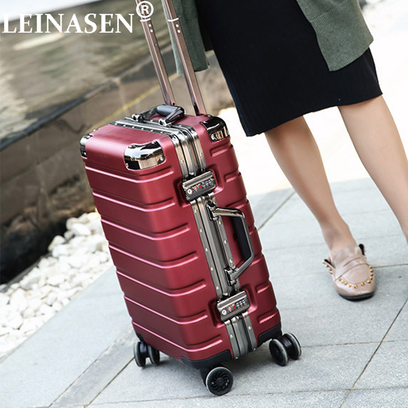 2024inch High quality Aluminum frame+PC shell Rolling Suitcase Travel Luggage Bag Universal wheel trip Box Trolley Case2024inch High quality Aluminum frame+PC shell Rolling Suitcase Travel Luggage Bag Universal wheel trip Box Trolley Case