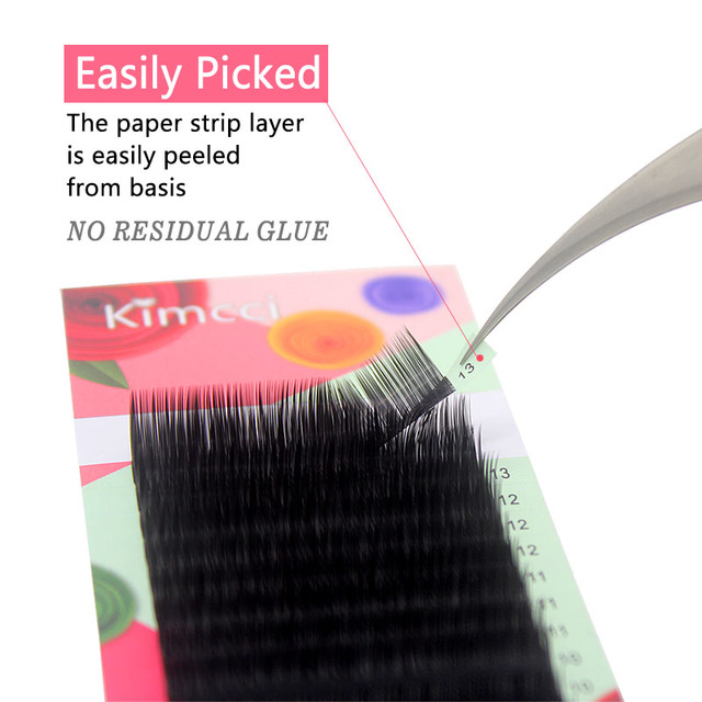 Kimcci 16Rows 7-15mm Mix Length Faux Eyelash Extension 3D Russian Volume False Mink Individual Eyelashes Makeup Eye Lashes Cilia 2
