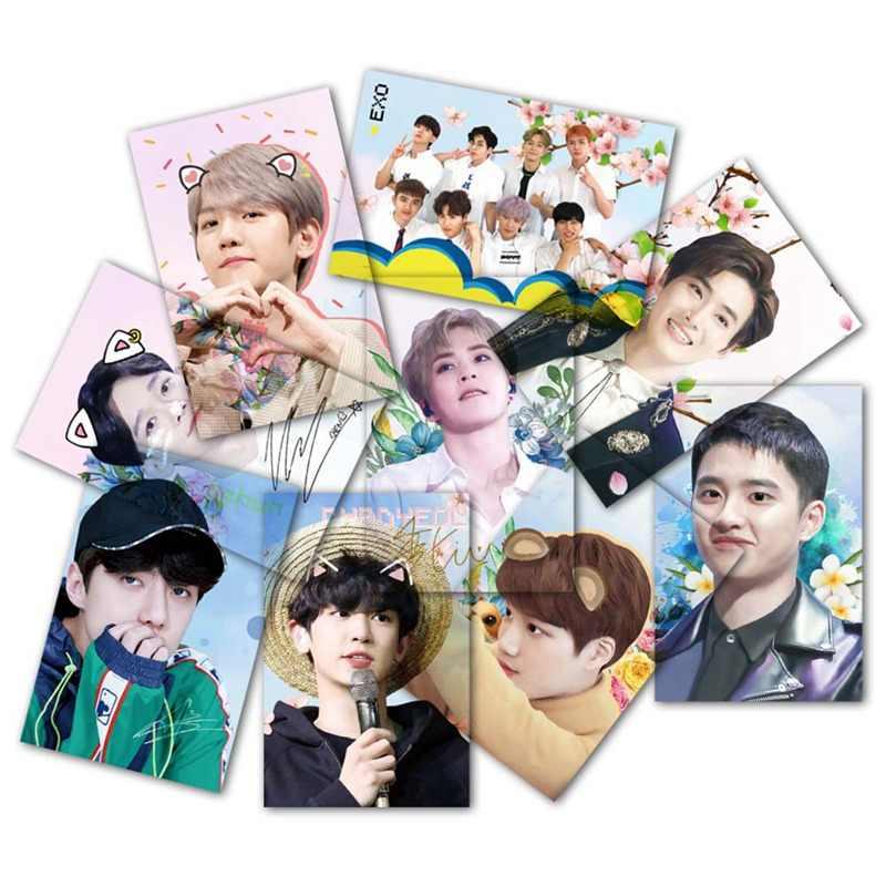 9pcs/set K-pop EXO Sehun PVC Clear Lomo Photo Cards HD Collective Photocard  Fans Gift