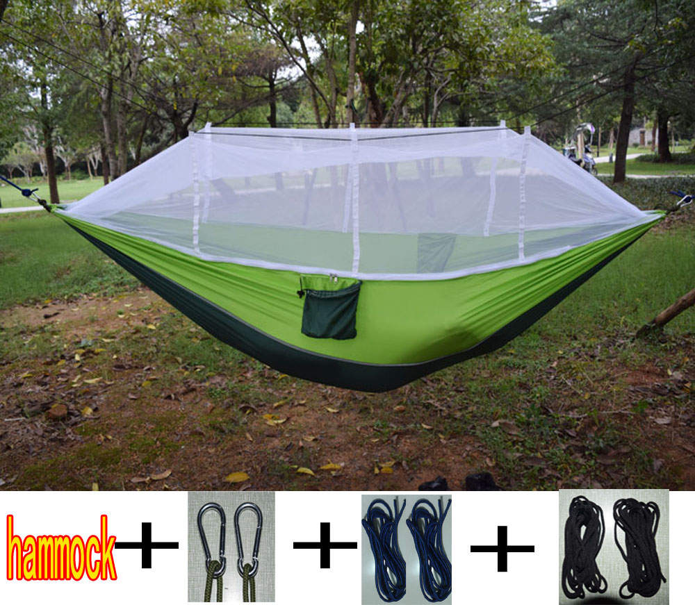 Ultralight Outdoor Camping Hunting Mosquito Net Parachute Hammock 2 Person Flyknit Hammock  Garden hammock Hanging Bed high quality outdoor 2 person camping tent double layer aluminum rod ultralight tent with snow skirt oneroad windsnow 2 plus
