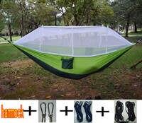 Ultralight Outdoor Camping Hunting Mosquito Net Parachute Hammock 2 Person Flyknit Hammock Garden Hammock Hanging Bed