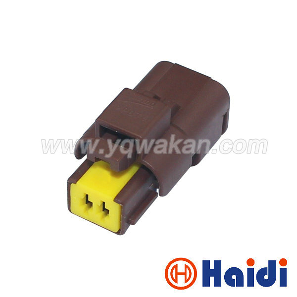 Free shipping 5sets 2pin FCI auto waterproof wiring electrical cable connector brown color female plug