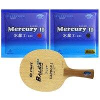 Pro Table Tennis (PingPong) Combo Racket: Galaxy YINHE T 11+with 2 pieces Mercury II Long Shakehand FL