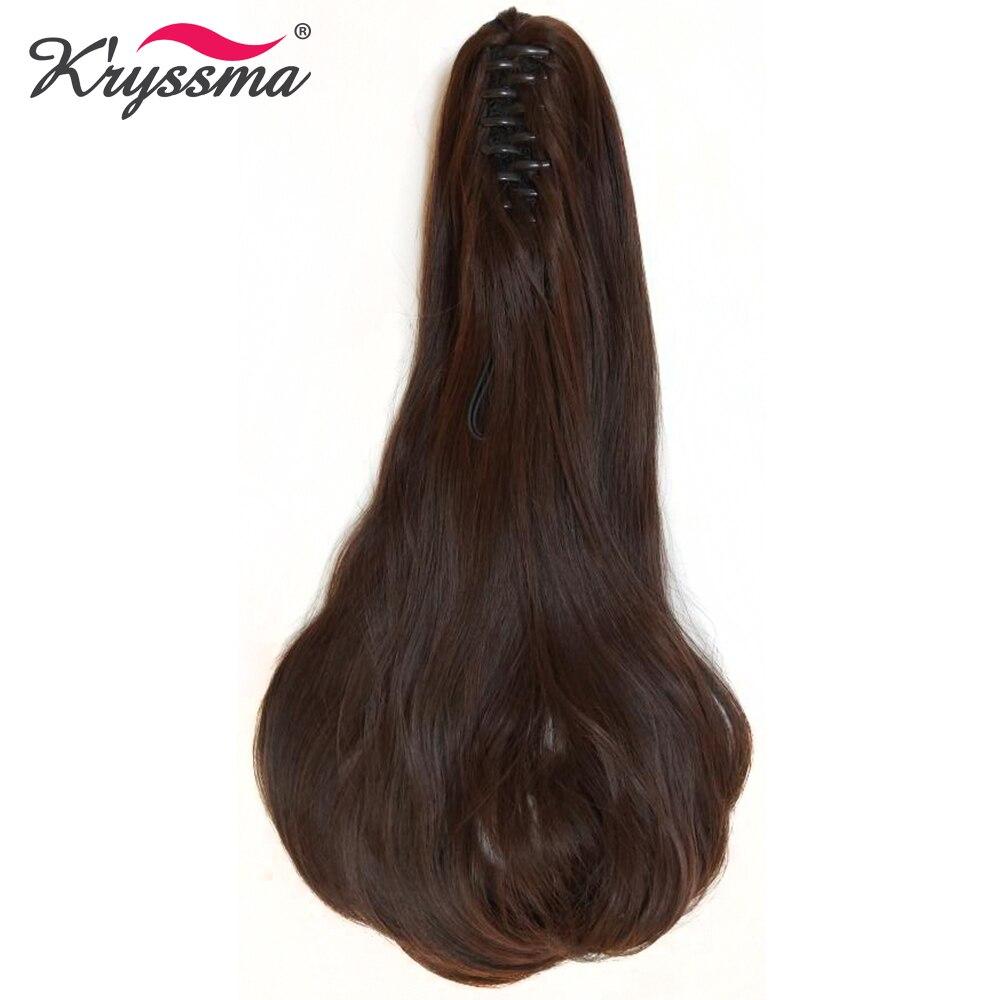 Kryssma коготь хвост длинные волнистые Синтетическая конский хвост Одна деталь наращивание волос легко носить Скрытая Невидимый 2 цвета повсе...