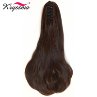 Kryssma Claw Ponytail Long Wavy Synthetic Pony Tail One Piece Hair Extensions Easy to Wear Hidden Invisible 2 Colors Daily Wear