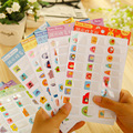 Creative Cartoon name stickers Sticky Notes Memo Pad Color waterproof Paper Sticker Transparent Wall stickers Fridge Magnets