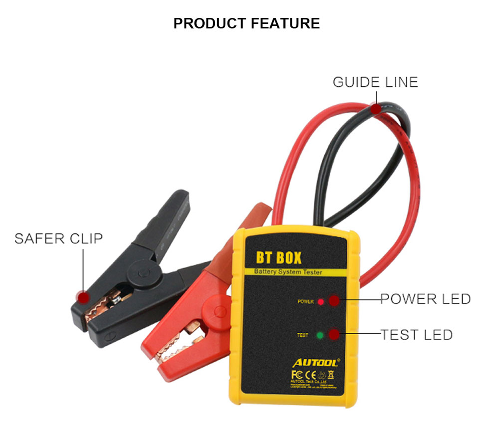 Autool BT BOX 12V Car Battery System Charging Testers Analyzer For IOS Android