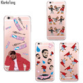 Funny Design Hotline Bling Drake Phone Case for iphone 6 6s 5 5s SE 6Plus Transparent Silicone Cover Fundas Capinhas