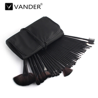 Professional 32 Pcs Vander Makeup Brushes Set Premium Function Blending Powder Foundation Make Up Tools Kit