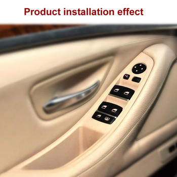 For BMW 5 Series F10 F11 F18 inner handle left front Interior door Armrest  panel driver's seat button switch frame storage box