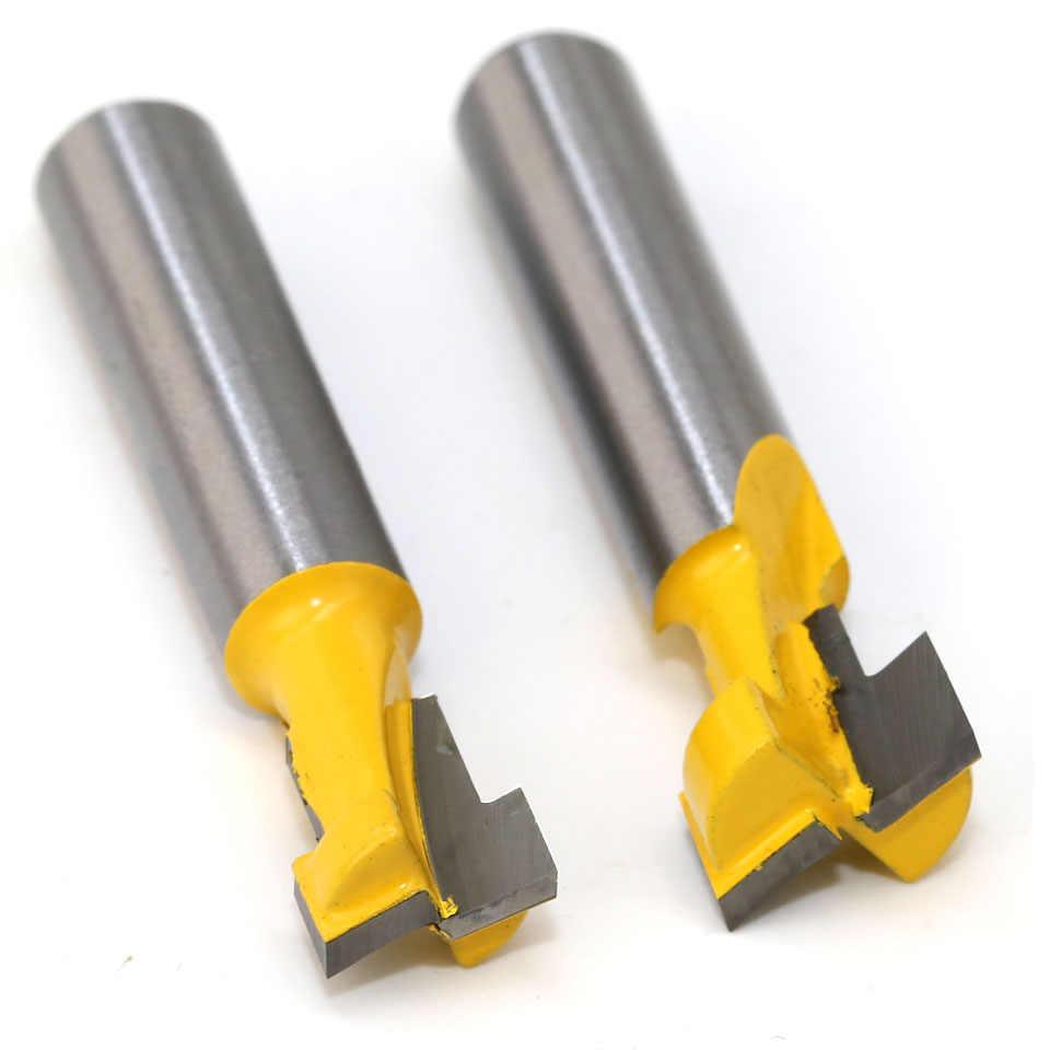 2 sztuk/zestaw 8mm Shank T-Slot dziurki od klucza frez do drewna Router Bit węglika nóż do drewna z łbem sześciokątnym śruby w kształcie litery T, aby śledzić dłutowania frezy