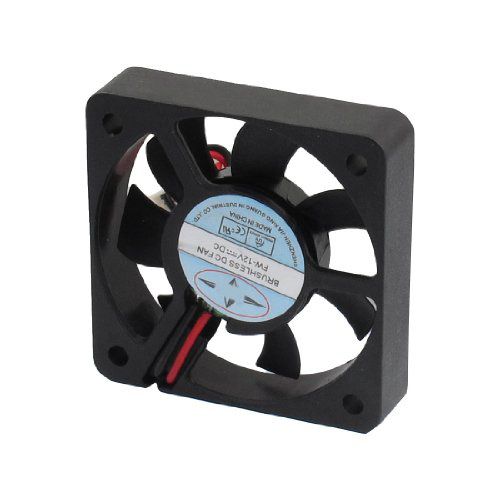YOC-New Plastic DC 12V 2 Pins Connector Brushless Cooling Fan 50mm X 50mm X 10mm