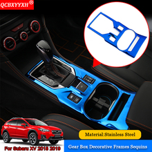 QCBXYYXH Car Styling 1pcs/set Car Interior Frame Decal Cup Holder Panel Sequins Auto Decoration Stickers For Subaru XV 2018 2019